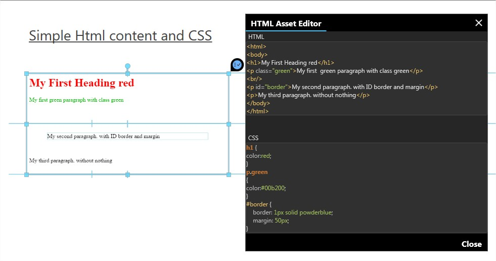 HTML Frame Asset – Intuiface
