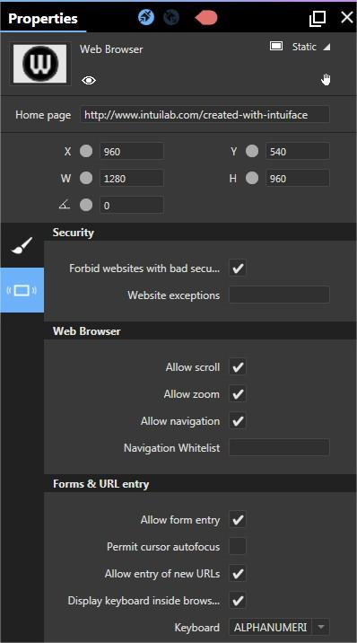 Web Browser Asset – Intuiface