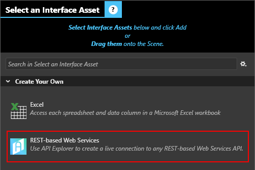 Create a REST-based Web Service Interface Asset using API Explorer