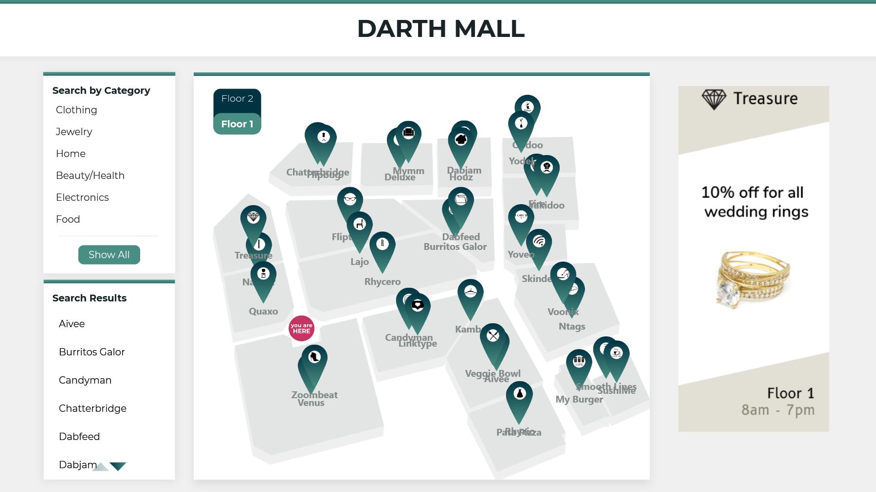 Shopping Mall Wayfinder